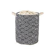 WUHUAROU Cesta para la ropa sucia, plegable, de almacenamiento, resistente al agua, con asas y cordón para almacenamiento, plegable, 33 x 42 cm