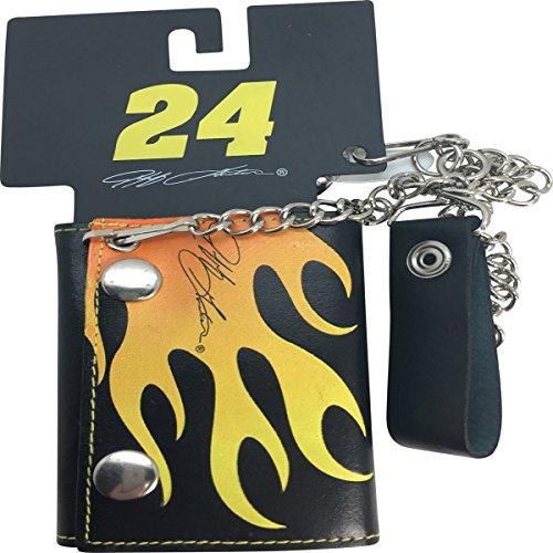 Jeff Gordon #24 Double Snap Genuine Leather Biker Style Wallet