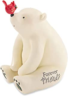 Pavilion Gift Company Snowman Forever Friends Polar Bear Figurine Decoration