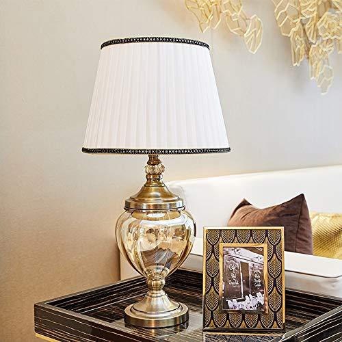Asncnxdore. Europäisches Luxus-metallisches Glas Tischlampe Modell Home Raumdekoration Ornamente Kreative Und Praktische Schlafzimmer 36 * 68cm