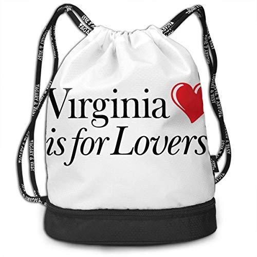 Petrichor Yi Virginia is for Lovers Bundle Sac à Dos Funny Gym Bag