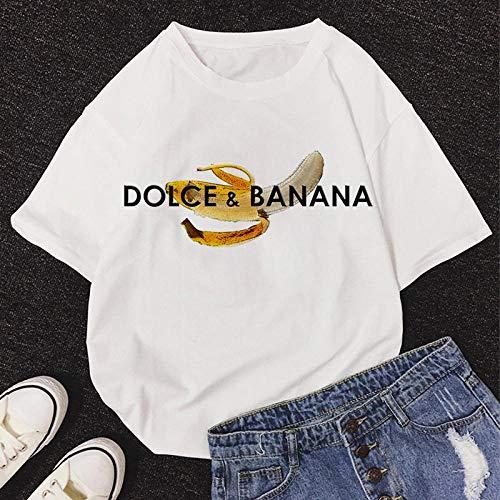 T-Shirt Femme Tshirt New Summer O-Neck Manches Courtes Mignon Cartoon T-Shirt Femmes XL 11467