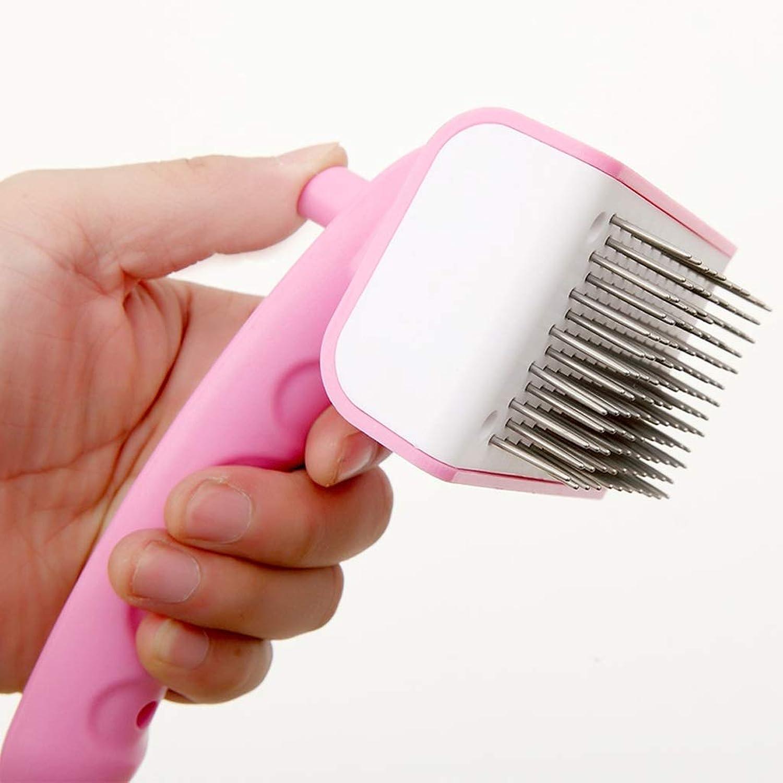CXQ Dog Cat Pink Massage Steel Needle Comb Beauty Comb Hair Removal Comb Pet Supplies
