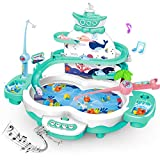 MagneticFishing Games toys for kids - 3 IN 1 Premium Version Electric Fishing Toys for toddlers with Songs...