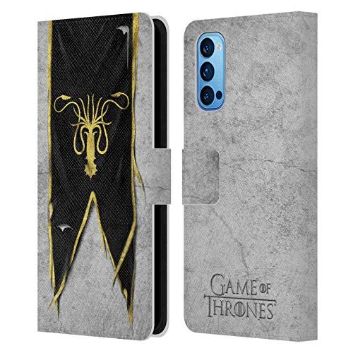 Head Case Designs Offizielle HBO Game of Thrones Greyjoy Sigil Flags Leder Brieftaschen Handyhülle Hülle Huelle kompatibel mit Oppo Reno 4 Pro 5G