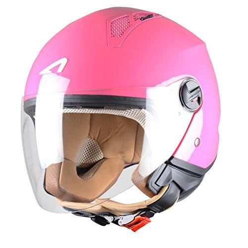 Astone Helmets Mini Jethelm, Lipstick Pink, XL