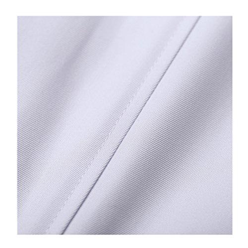 Langärmelige kurze abschnitt kittel ärzte krankenschwestern bekleidung arbeitskleidung arbeit (männer, XXXL) - 7