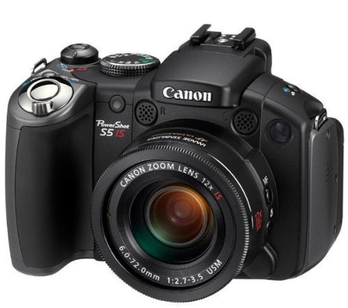 Canon PowerShot S5 IS Digitalkamera (8 MP, 12-fach opt. Zoom, 6,4cm (2,5 Zoll)Display, Bildstabilisator)