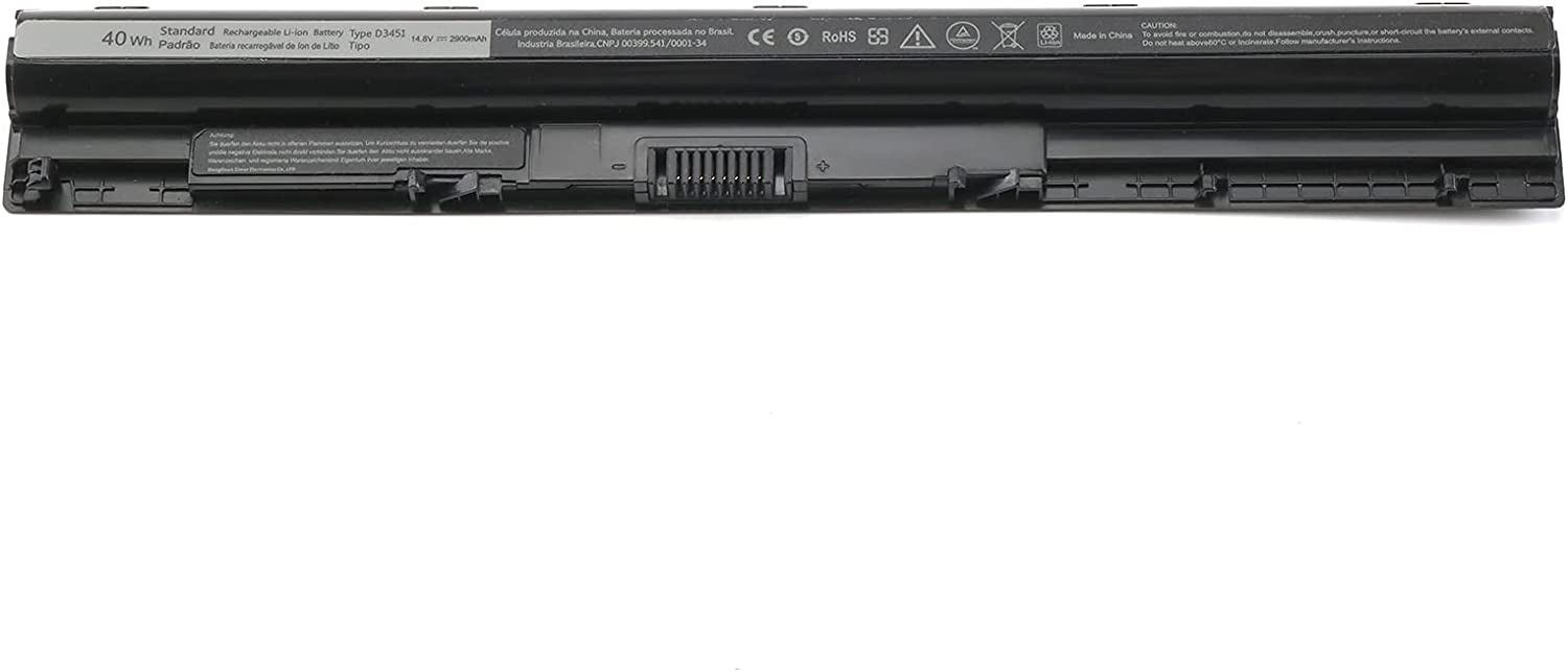 Dell 40wh Standard Rechargeable Li-ion Battery Type M5Y1K 14.8V, Dell 40 WHR 4-Cell Primary Lithium-ion Battery, M5Y1K 14.8V Dell Laptop Battery for Inspiron 15 5000 3000 3551 3558 5558 yu12005-13001d