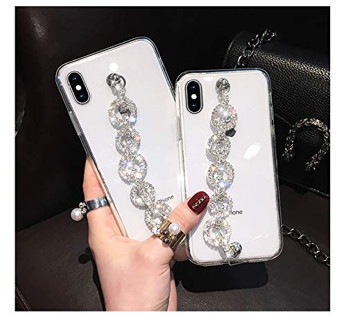 LIUYAWEI Estuches de Pulsera para iPhone 12 Mini 11 Pro MAX XR XS MAX 8 7 Plus SE Estuche para Samsung S10 S20 Note 10 Plus A51 A71, Transparente, para iPhone 8 Plus