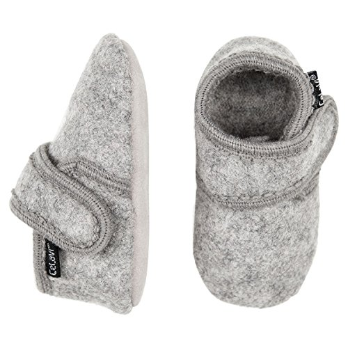 CELAVI Unisex-Baby Wool Shoe Hausschuh, Grey Melange