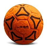 Uber Soccer Indoor Felt Ball (Orange, 4)