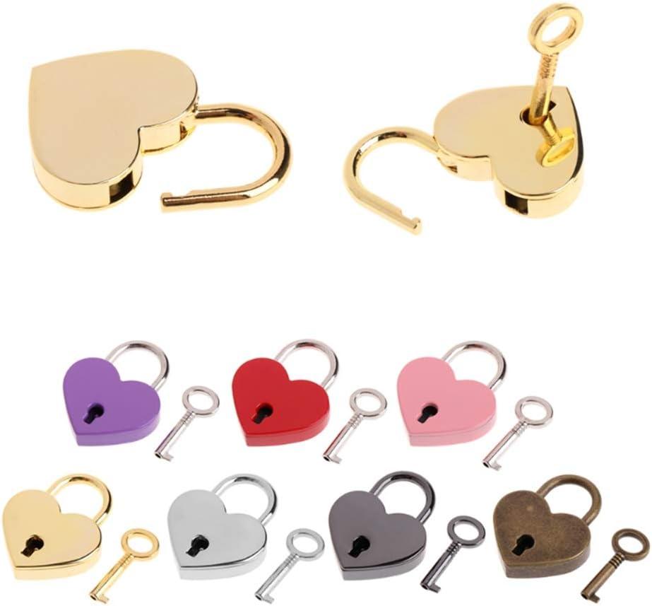 Very popular CHDHALTD Over item handling Mini Heart Lock Vintage Key S Padlock