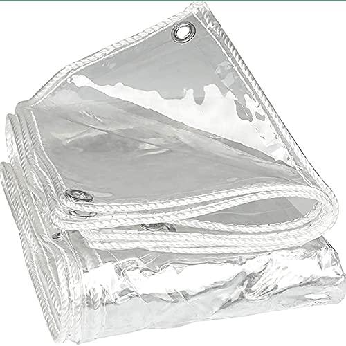 Hochleistungs-tarp Clear-plane-verstärkte ösen, 0,35 Mm Dicke Transparente Pvc-plane Mit Wasserdichtem Staubdichtem Tarp-blatt Mehr Widerstandsfähiger Abdeckung Tarp Für...