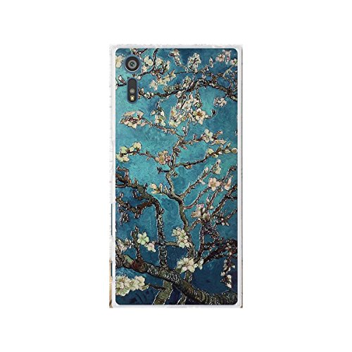 Sony Xperia XZ Case,Gift_Source [Thin] Shockproof Case Flexible Rubber Silicone 3D Emboss Pattern Back Cover Soft TPU Crystal Clear Bumper Case For Sony Xperia XZ/XZs 5.2' [Apricot flowers]