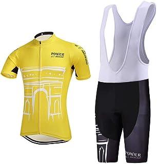 Nehua Men Breathable Mesh Quick-Dry Short Sleeve Cycling Jersey Set