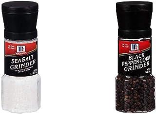 Best McCormick Grinders Sea Salt Grinder, 6.1 oz with McCormick Black Peppercorn Grinder, 2.5 oz Reviews