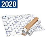 XXL Jahresplaner 2020 Wandkalender in Poster Größe. Querformat. Lieferung in Rolle - Wandplaner, Jahreskalender, Plakatkalender, Kalender. Groß: 70x100 cm. 1 Stück