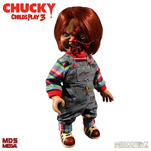 Mezco Child'S Play 3: Chucky Talking Doll Pizza Face Version Standard
