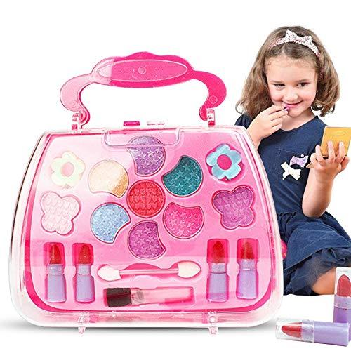 Liamostee Princesa Juguetes Chica Maquillaje Herramientas Set Maleta Cosmética Juego Kit Niños Regalo