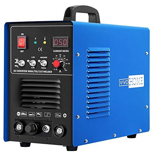 VIVOHOME 3 In 1 Multi-functional Plasma Cutter Cutting TIG STICK/MMA Welding Machine Dual Voltage 110/220V CT520DM Blue