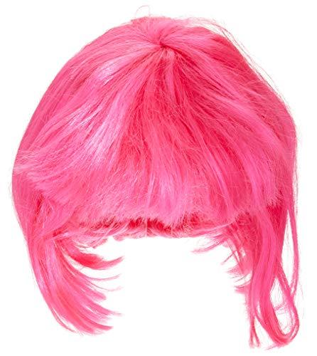 Peluca rosa de Broadway, pelo corto y flequillo en fucsia, más colores disponibles (Rubie's 50496)