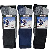 2. Mens Thermal Socks Heavy Extreme Cold Weather Boot Socks 6-pack By DEBRA WEITZNER, Assorted a, 10-15