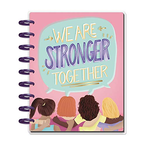 Price comparison product image The Happy Planner - Stronger Together Theme - July 2020 to December 2021 - Vertical Layout - Weekly & Monthly Disc-Bound Pages - Scrapbook - Classic Size