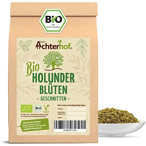 Bio Holunderblüten Tee (500g) | Holunderblütentee | Holunder | organic elder flowers cut vom Achterhof
