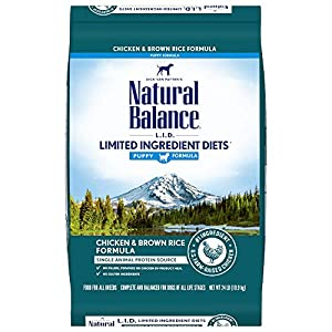 Natural Balance L.I.D. Limited Ingredient Diets Dry Dog Food, 24 Pounds, Chicken & Brown Rice Puppy Formula