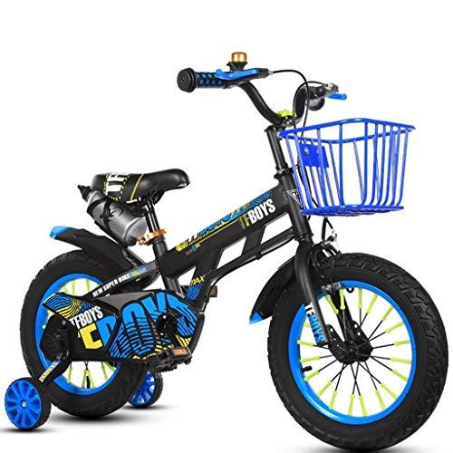 TYPO Bicicletas Niño Niña Bicicleta Primavera Viaje Bicicleta Niños Verano Bicicleta de montaña 3~12 años Niños Pedal Triciclo 12 Pulgadas / 14 Pulgadas / 16 Pulgadas / 18 Pulgadas / (Color: Ro