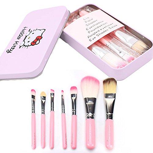 Miya 7de tlgs Juego de pinceles de maquillaje profesional pincel de maquillaje, muy compacto y práctico, con dulce caja