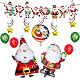 DANSHEN Globos de Santa Claus con diseño de muñeco de nieve, de aluminio, para decoración de árbol de Navidad, fiestas y celebraciones