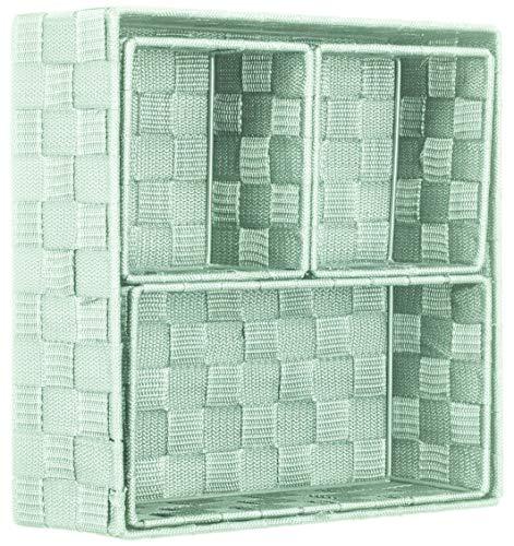 Brandsseller Aufbewahrungsbox Dekobox - Rattan/Flecht Optik - 4er Set (Mint)