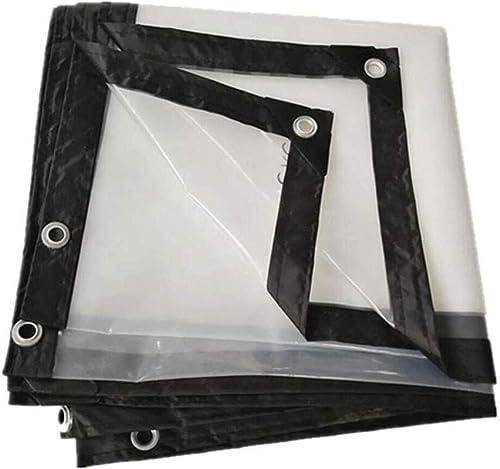 Wangcfsb Verre Transparent Bache étanche Mobilier Lourd Transparent en Plastique Métal Anneau Oeil en Plein Air Jardin Couverture (Couleur   Transparent, Taille   3x8m)