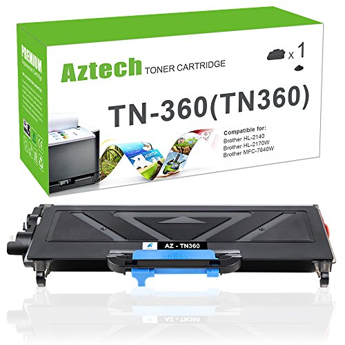Aztech Compatible Toner Cartridge Replacement for Brother TN360 (Black, 1-Pack)