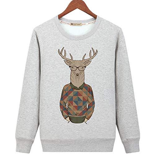 HOSD Plus suéter Grueso de Lana para Hombre Camisa cálida con Fondo Informal Mangas largas no Abajo