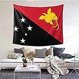 BGDFN Wandteppich, Motiv: Flagge von Papua, Neuguinea, Wandbehang, Überwurf, Tischdecke, 152,4 x 101,6 cm, für Schlafzimmer, Wohnzimmer, Schlafsaal