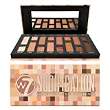 W7 | Nudification Pressed Pigment Palette Makeup | Tones: Cream Matte, Shimmer, Glitter & Toppers | Colors: Naturals, Nudes, Pinks & Browns | Cruelty Free, Vegan Makeup For Women