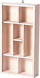 Darice Natural Unfinished Wood Craft Display Memory Box, One Size