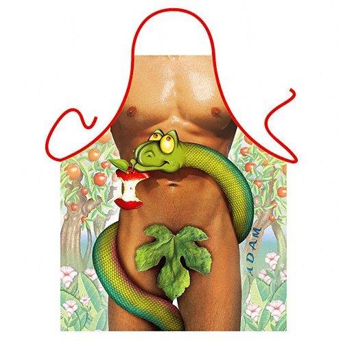 Tablier de cuisine humoristique Homme Sexy Serpent Pomme Tentation - Cuisine Cadeau Deguisement Humour Noel - 122