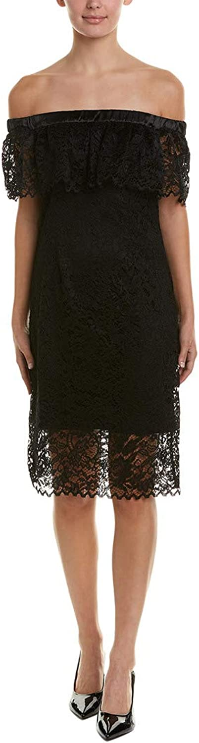 Betsey Johnson Womens Off The Shoulder Lace Dress