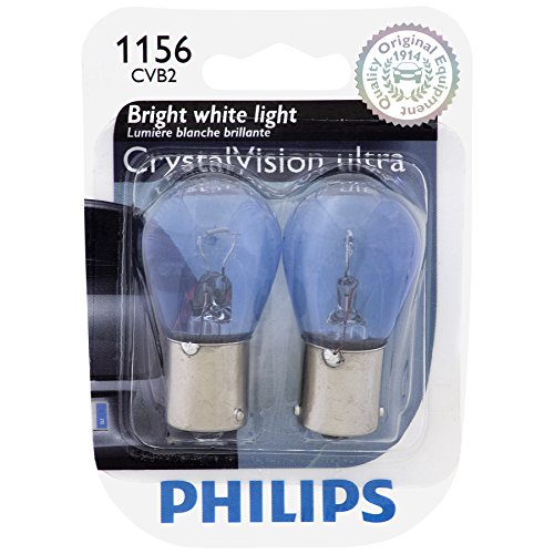 Price comparison product image Philips 1156CVB2 CrystalVision Ultra Miniature Bulb,  2 Pack