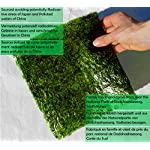 Sushi Nori Seaweed Sheets - Rich Flavour, 50 Pack, Top Grade (Gold), Baked May 2020, Straight from Family Farm in South… 3