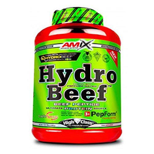 Amix - Proteína de Ternera, HydroBeef Protein, Ayuda a Aumentar la Masa Muscular, Fabricada con Carne Fresca de Vacuno, Proteína Hidrolizada, 2 Kg, Sabor Doble Chocolate y Coco