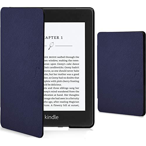 FC Funda para Kindle Paperwhite 2018 - Funda Protectora con Cierre Magnético del Amazon Kindle Paperwhite (10a Generación - 2018 Modelo) - Smart Auto Sueño Estela - Delgado Ligera - Azul Marino
