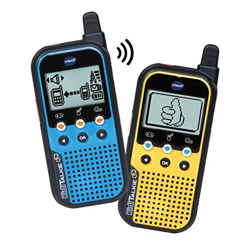 VTech KidiTalkie 6 en 1, Walkie Talkie, envía Mensajes y Juega con una conexión Segura, Mantener Las distancias al Hablar, versión ESP, Color Azul (3480-518567), Amarillo