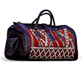 Leather kilim travel bag - Moroccan Handmade Weekender Shoulder Carry-on luggage - Gym duffle large - Tribal Bohemian vintage carpet - For Women and men