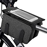 MoKo Bike Front Frame Bag, Bicycle Top Tube Bag Bike Phone Mount Bicycle