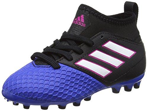 adidas Ace 17.3 Ag J, Botas de Fútbol Unisex Niños, Rojo/Negro, Negro (Core Black/footwear White/blue), 36 2/3 EU